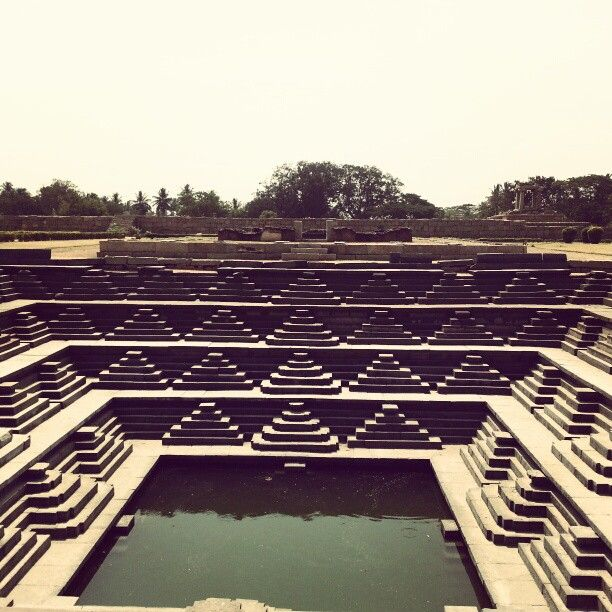 Ancient water tank at hampi #travel #architecture #india