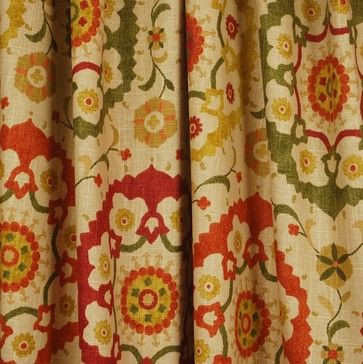 Cornwall Spice Suzani Spice Fabric traditional-drapery-fabric