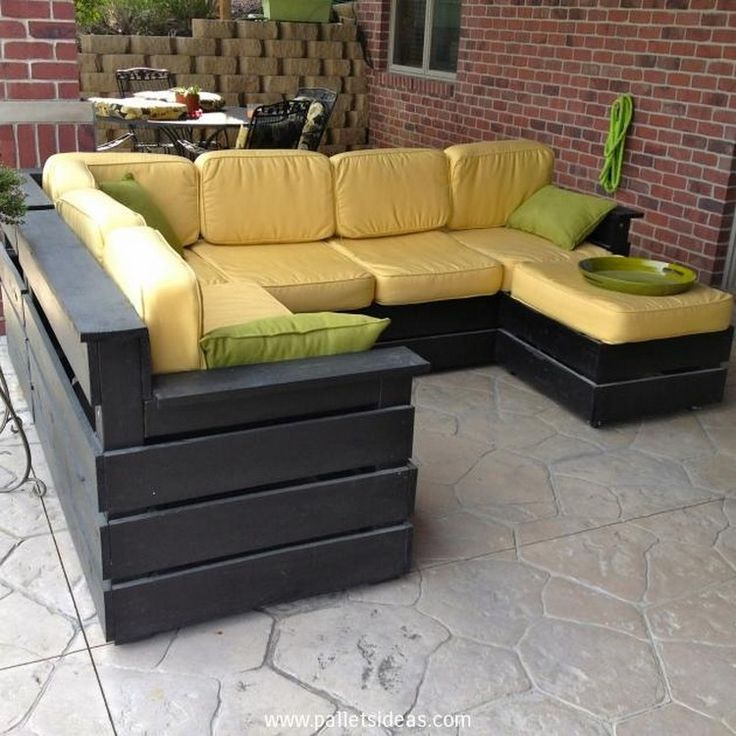 Garden Furniture Out Of Crates best 25+ pallet deck furniture ideas on pinterest | sectional