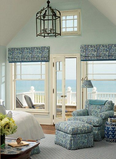 Master bedroom on Long Island by Alexa Hampton - you would have to pry me out of this bedroom!