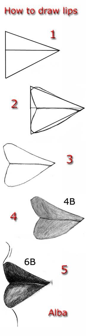 Tutorial draw lips 2 by ~lamorghana on deviantART