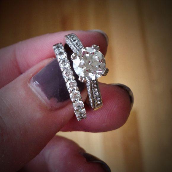 Clean wedding rings