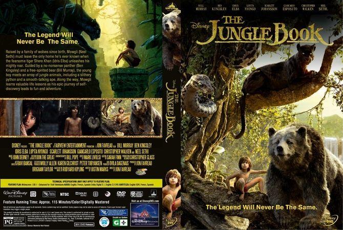 The Jungle Book Cover Art : The jungle book dvd custom cover