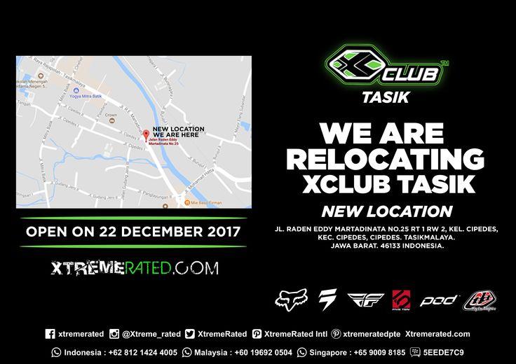 Relocating XClub Tasik  |  The OLD address at Jl. Ir. H. Juanda No.168, Sukamulya, Bungursari, Tasikmalaya is closed | Visit Our New Location at Jl. RE. Martadinata No. 25, Cipedes, Tasikmalaya on 22 December |   #xtremerated #xclub #store #tasikmalaya #indonesia