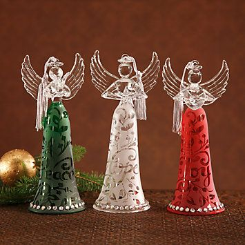 Superbe Joyous Tidings Angel Ornament Set By Lenox
