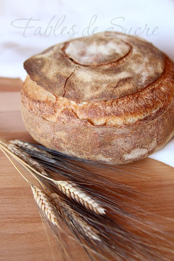 Pane semplice di semola con pasta madre