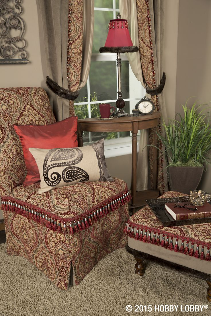 A few tips for adding classic elegance to your living space: 1. Use traditional fabric styles to make curtains, reupholster furniture and cover or add borders to pillows. 2. Incorporate tassels, tacks and trims to give your furniture and decor a distinctive look. 3. Balance out beautiful patterns with some solid-colored accessories.