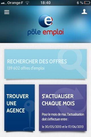 accueil application pole emploi new