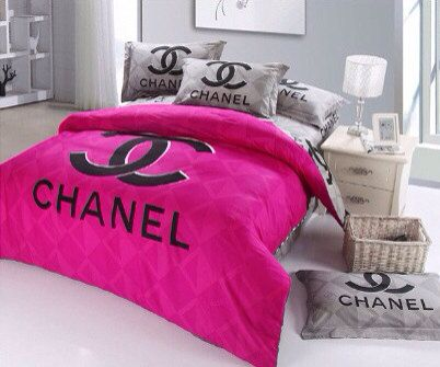 CC Logo Inspired Queen Size Cotton Black By LOVEFROMLaurenEmily 6500 My Ideas For Chanel