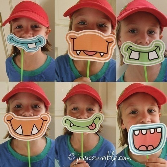 Just a picture. But so, so fun! Print out different mouths, then tape onto a straw!