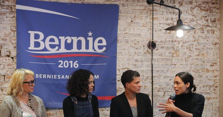 """Panel of high-powered women show support for Bernie Sanders in Harlem.  Actress Rosario Dawson, a panel member, said that Sanders """"has dreamers already working for him and with him."""""""