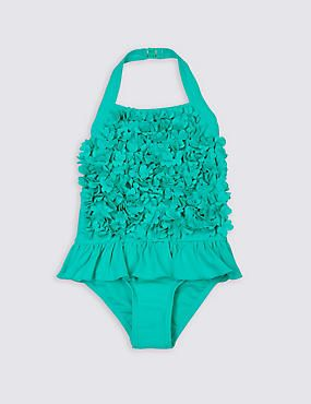 Frill Flower Swimsuit with Lycra® Xtra Life™ (0-5 Years)