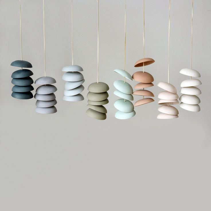 Disc Chimes - by Pigeon Toe Ceramics