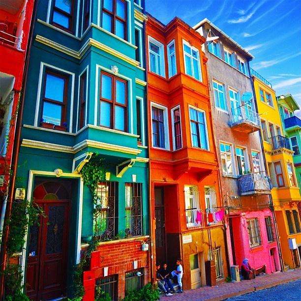 Colorful Buildings ❤ Balat/Istanbul/Turkey - @kyrenian- #webstagram