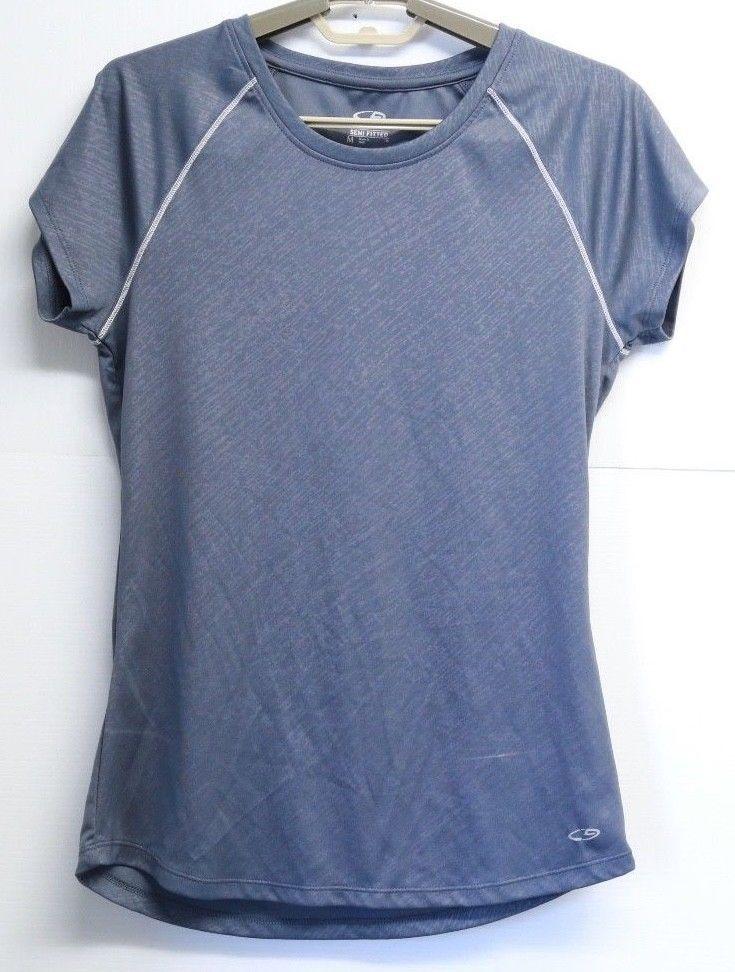bc94478cc9e5 Women's C9 by Champion Semi Fitted Short Sleeve Grey Athletic Shirt Medium # champion #AthleticTops