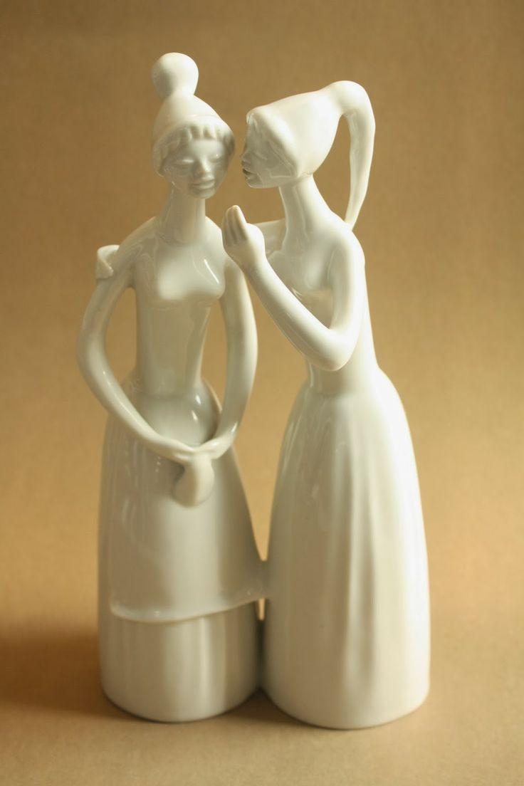 Art deco porcelain: Gossip girls - Drasche