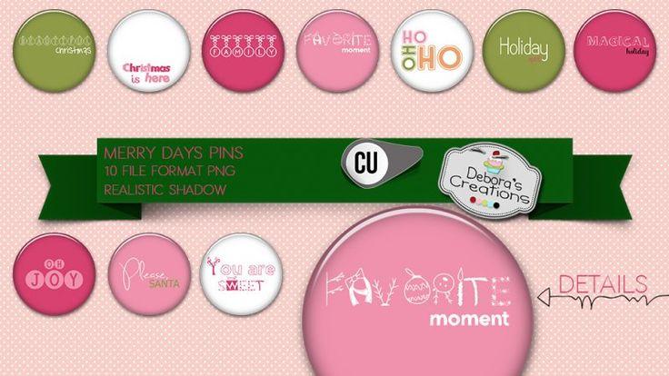 Merry Days Pins by Debora's Creations (CU)