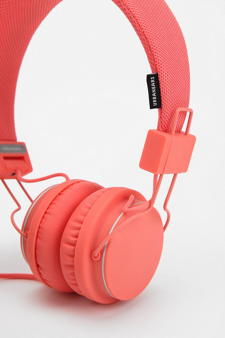 Urbanears Headphones - Coral #UrbanOutfitters They didn't have this colour when I got mine!