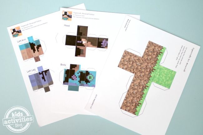 Printable Minecraft Apps - Play in 3D! - Kids Activities Blog
