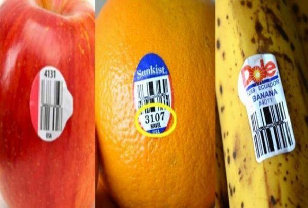 Να τι σημαίνουν τα αυτοκόλλητα με τους αριθμούς πάνω στα φρούτα