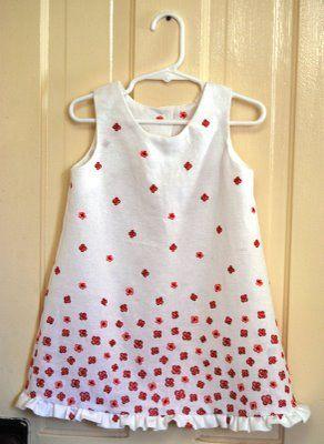 Sleeveless dress pattern