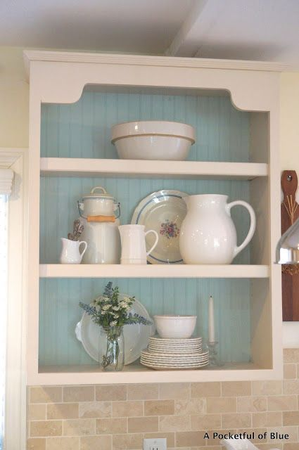A Pocketful of Blue: Kitchen Shelves and Exercise Too