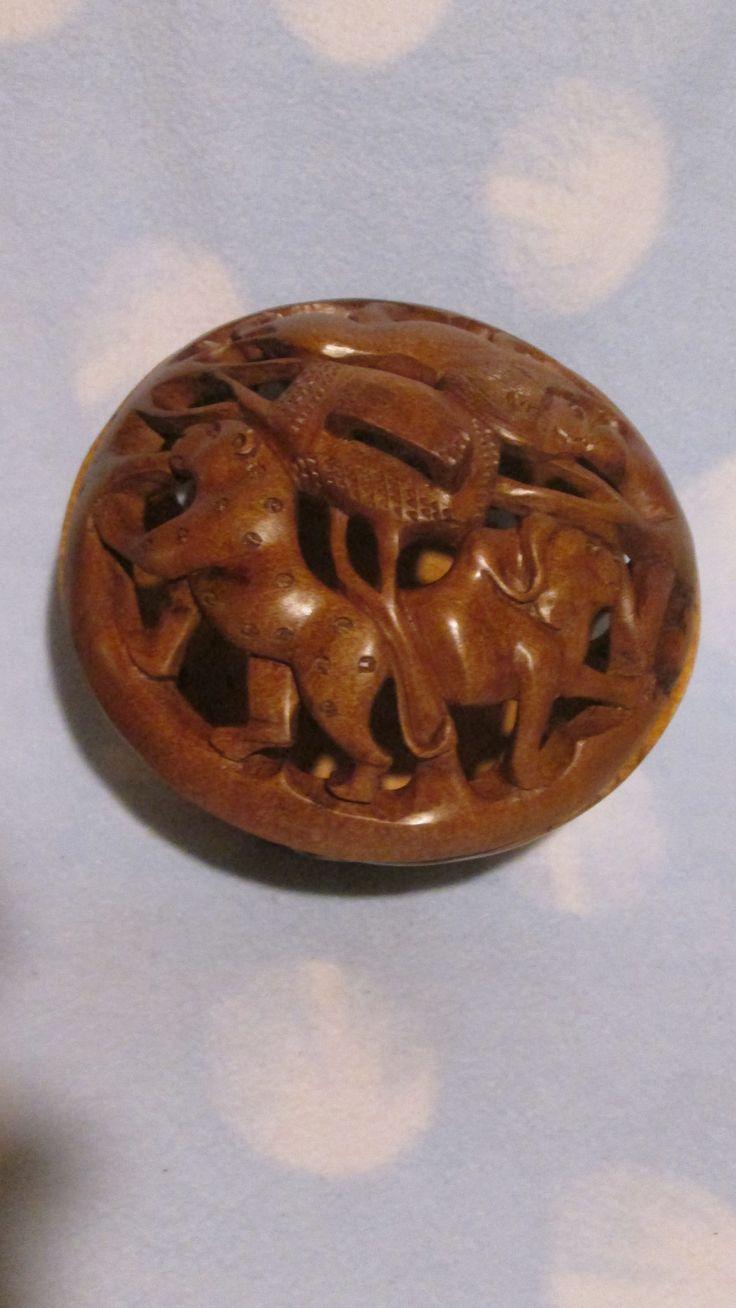 Wooden Carved Bowls - Animals - medium size