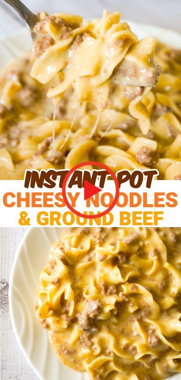 Instant Pot Cheesy Rundergehakt En Noodles In 2020 Instant Pot Pasta Recipe Instant Pot Dinner Recipes Beef Recipes Easy