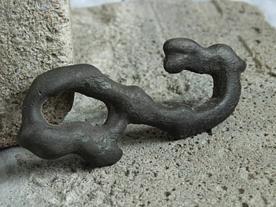Viking Bronze ophidian Amulet Head Horse age 1000 Years Old
