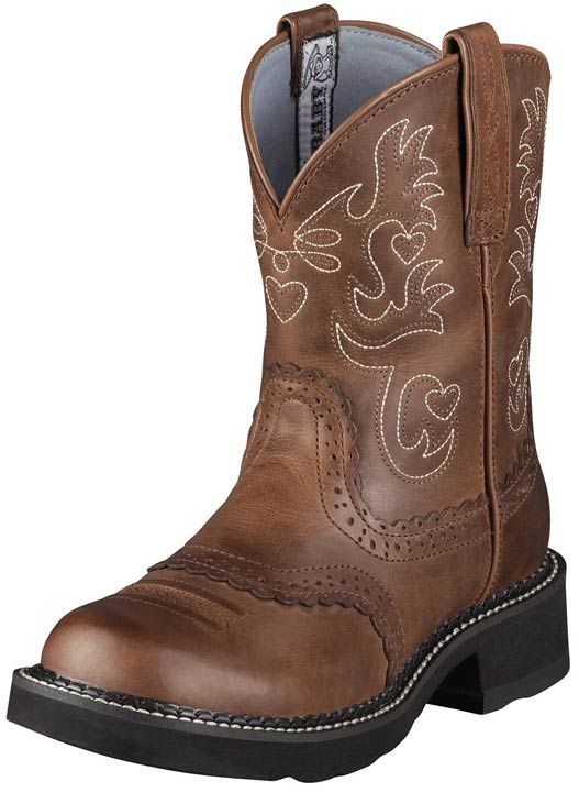 so cute. -- The Fatbaby from Ariat is a fun and flirty women's western boot.