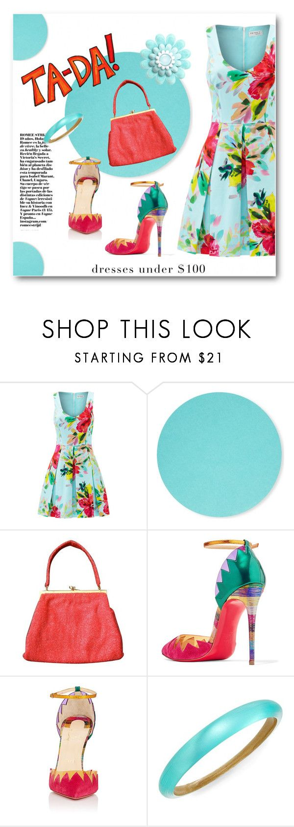 """""""The Magic of Color"""" by metter1 ❤ liked on Polyvore featuring Trina Turk, Design Letters, Gucci, Christian Louboutin and Alexis Bittar"""