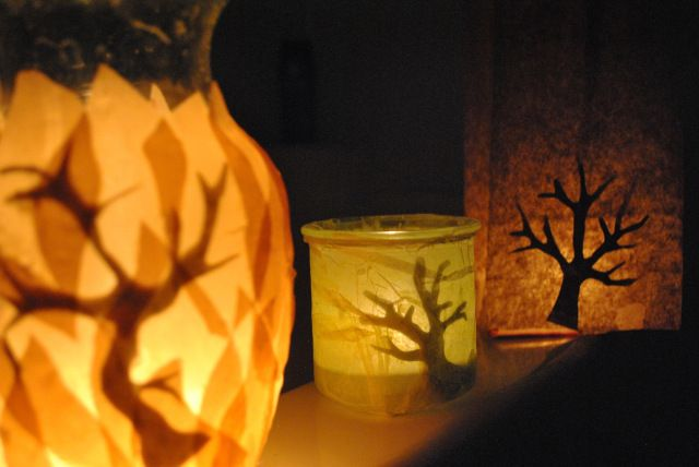 Burning Bush Luminaries for Shavuot DIY Tutorial