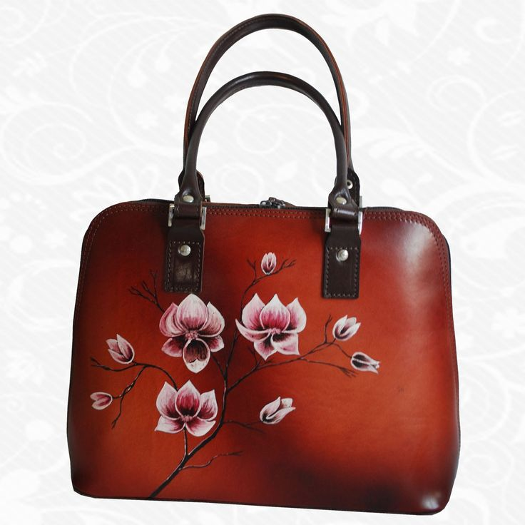 Feature: Flowers   On hand painted leather products are used exclusively Italian beef leather. All products are entirely hand-painted spirit colors that penetrate deep into the skin where the collagen fibers are fixed. http://www.vegalm.sk/produkt/rucne-malovana-kabelka-c-2/