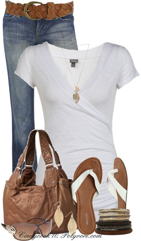 Casual OutfitFashion, Weekend Outfit, Casual Outfit, Summer Outfit, Weekend Wear, Style, White Shirts, Flip Flops, Comfy Casual