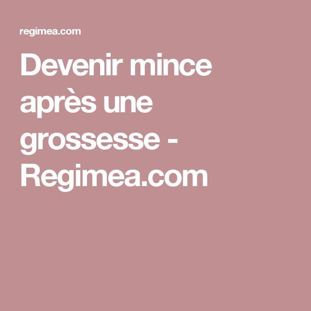 Devenir mince après une grossesse - Regimea.com