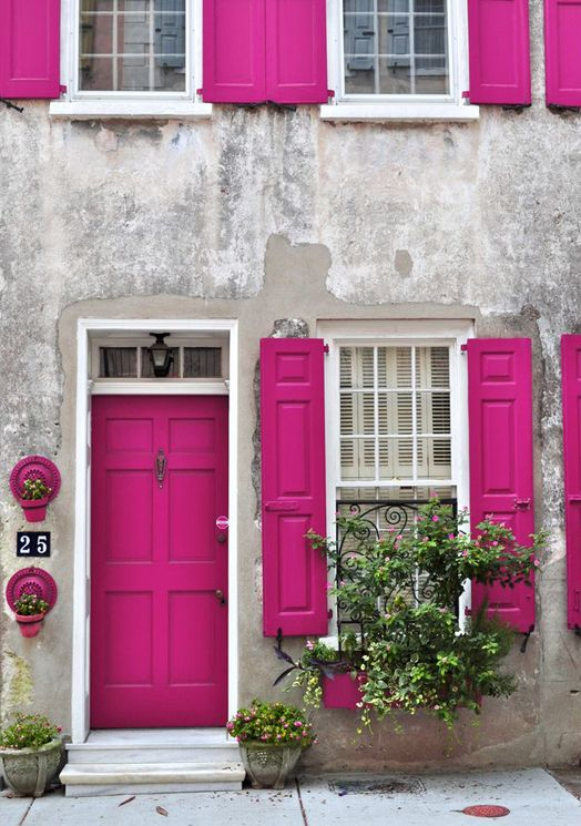 Magenta Magic Would love a front door in this colour...