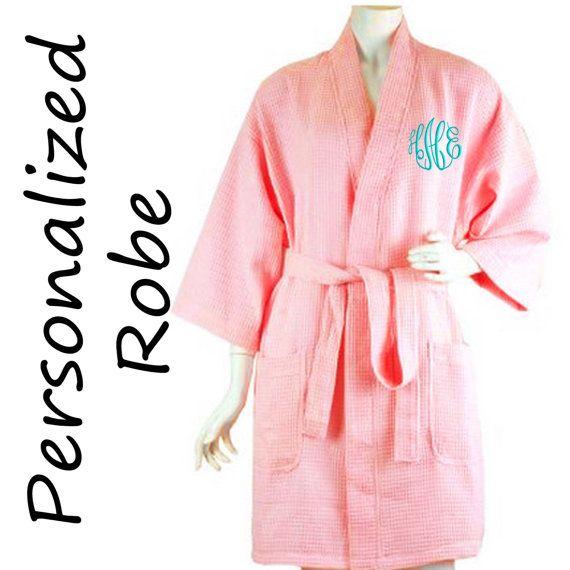 Personalized Bride or Bridesmaid Robe ,Monogrammed Robe, Waffle Robe, Personalized Bridesmaid Gifts