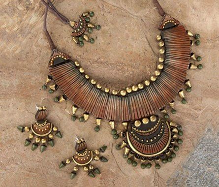 Handmade terracotta jewelry https://www.facebook.com/KavisTerracottajewellery