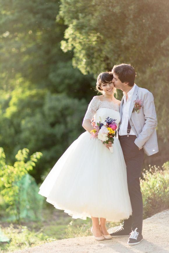Vintage Midi wedding dress - hot trend for Wedding Season S/S 2014.