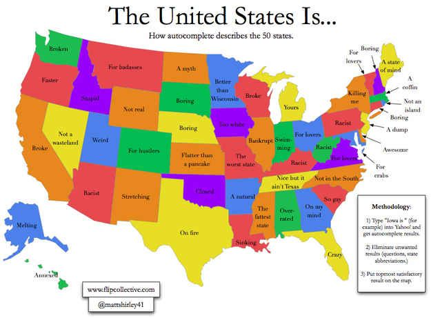What the internet thinks about each state.