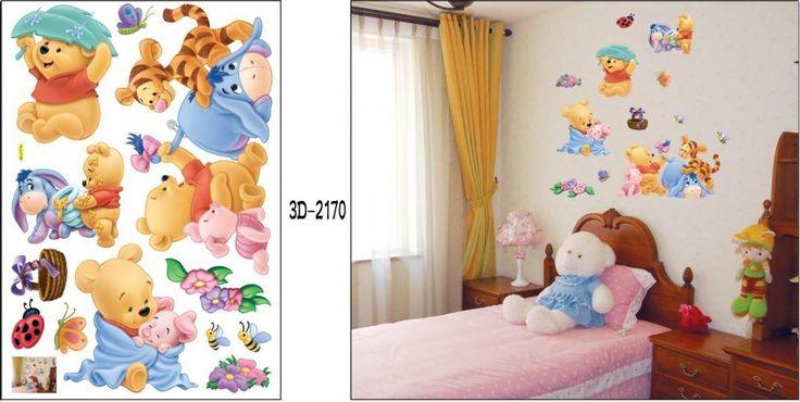 Winnie Pooh & Tiger Bett Dekor fürs Kinderzimmer Wandtattoo/Wandsticker 70cm x 50cm aus Deutschland: Amazon.de: Baby
