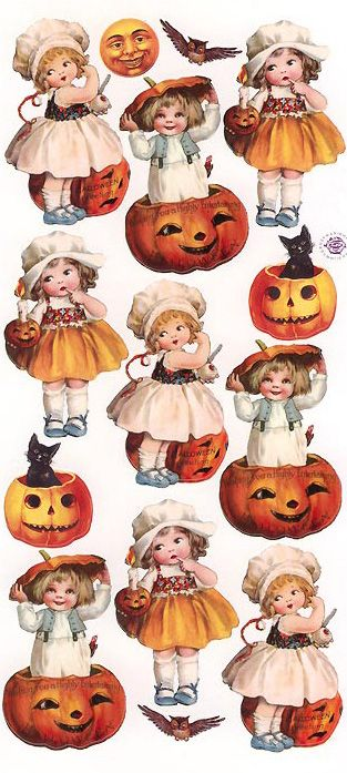 Halloween stickers for holiday crafting
