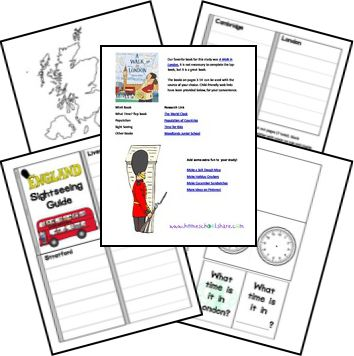 England Country Study Lapbook