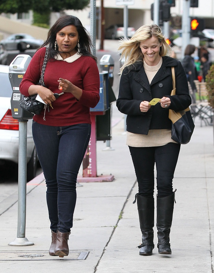 Mindy Kaling + Reese Witherspoon. Obsessed