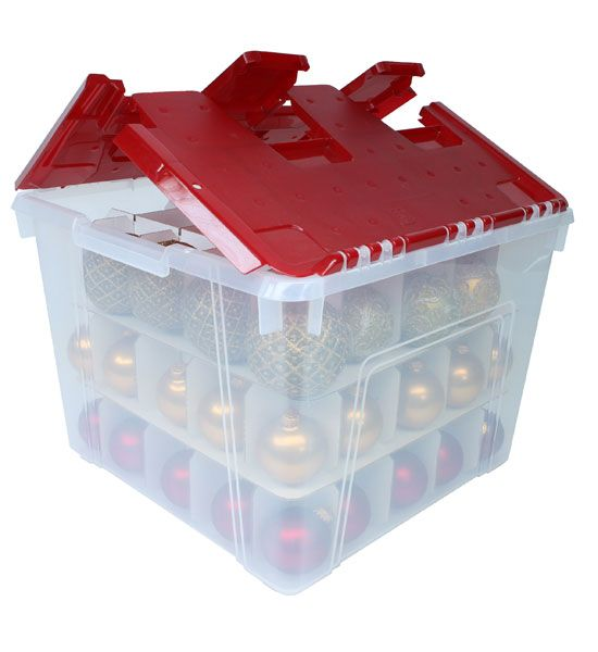 Keep your holiday ornaments safe when they are not on display when you have the Christmas Ornament Storage