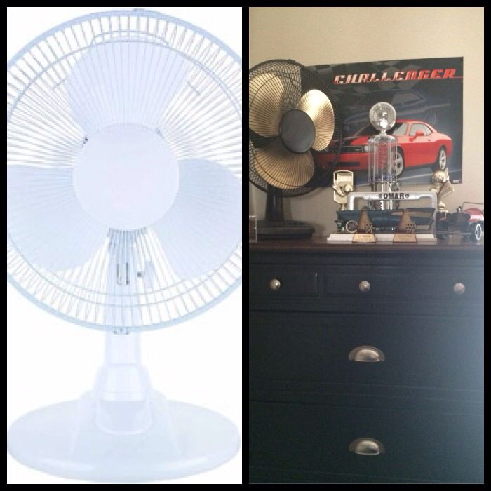 Before after spray paint fan