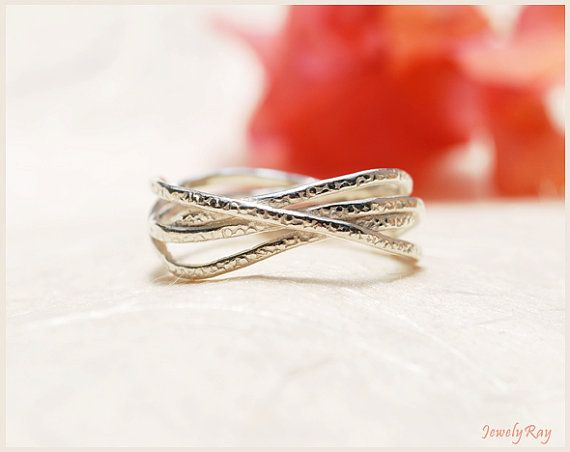 unique silver ring , CHRISTMAS SALE , hammered silver ring , unusual silver ring