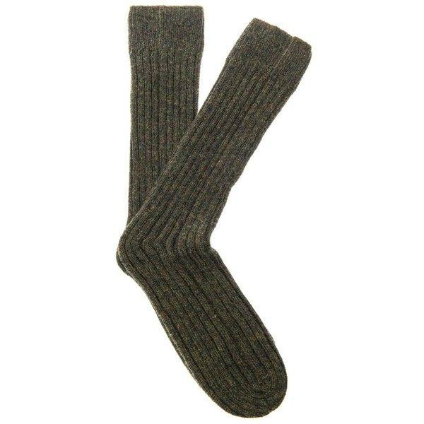 CERRUTI 1881 PARIS Runway chunky-knit wool socks