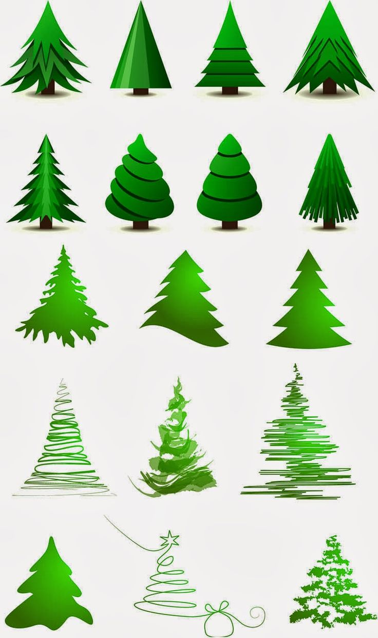 Stylized+christmas+tree+layout+vector.jpg 800×1,350 pixels