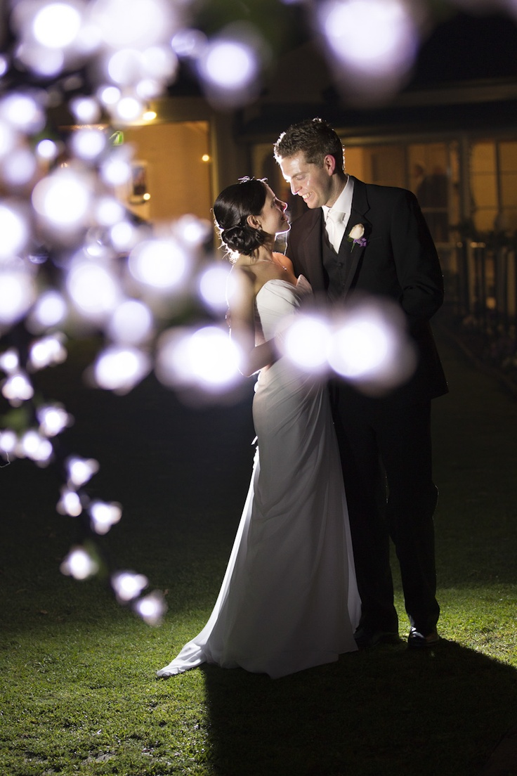 Wedding Photography at Bram Leigh Receptions through fairy lights